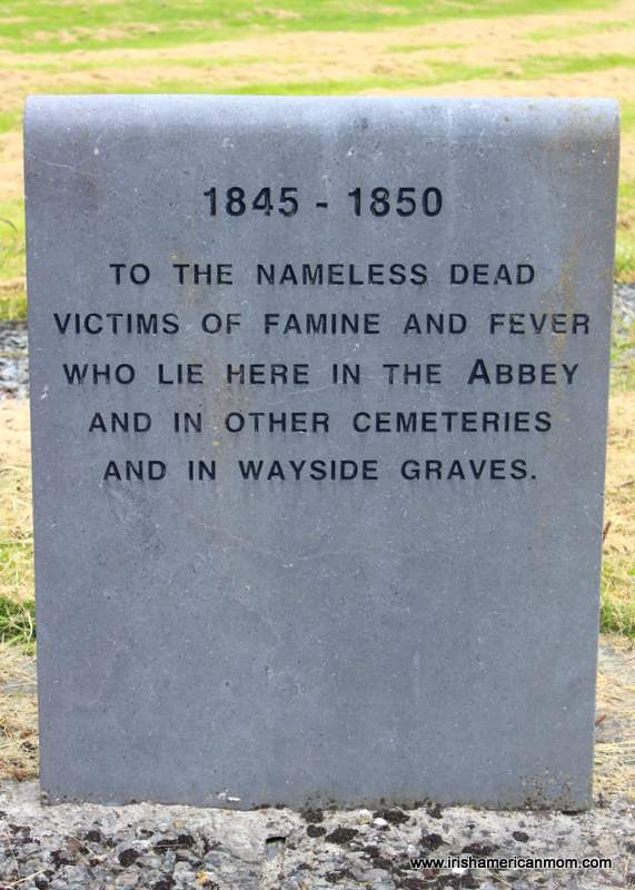 Unmarked grave of 9000 victims of the Irish Famine