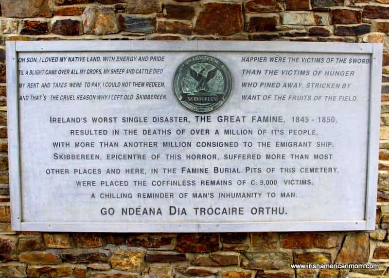 Remembering the victims of the Great Irish Famine in Skibbereen
