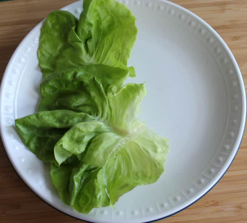 Salad or lettuce on a plate