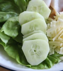 Cucumber is usually peeled and sliced when served as part of an Irish salad.