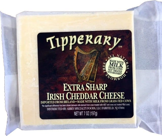 Irish cheddar cheese package from County Tipperary
