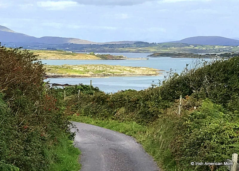A body of water and a narrow road