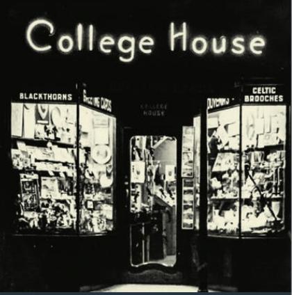 Vintage photo of College House on Nassau Street Dublin