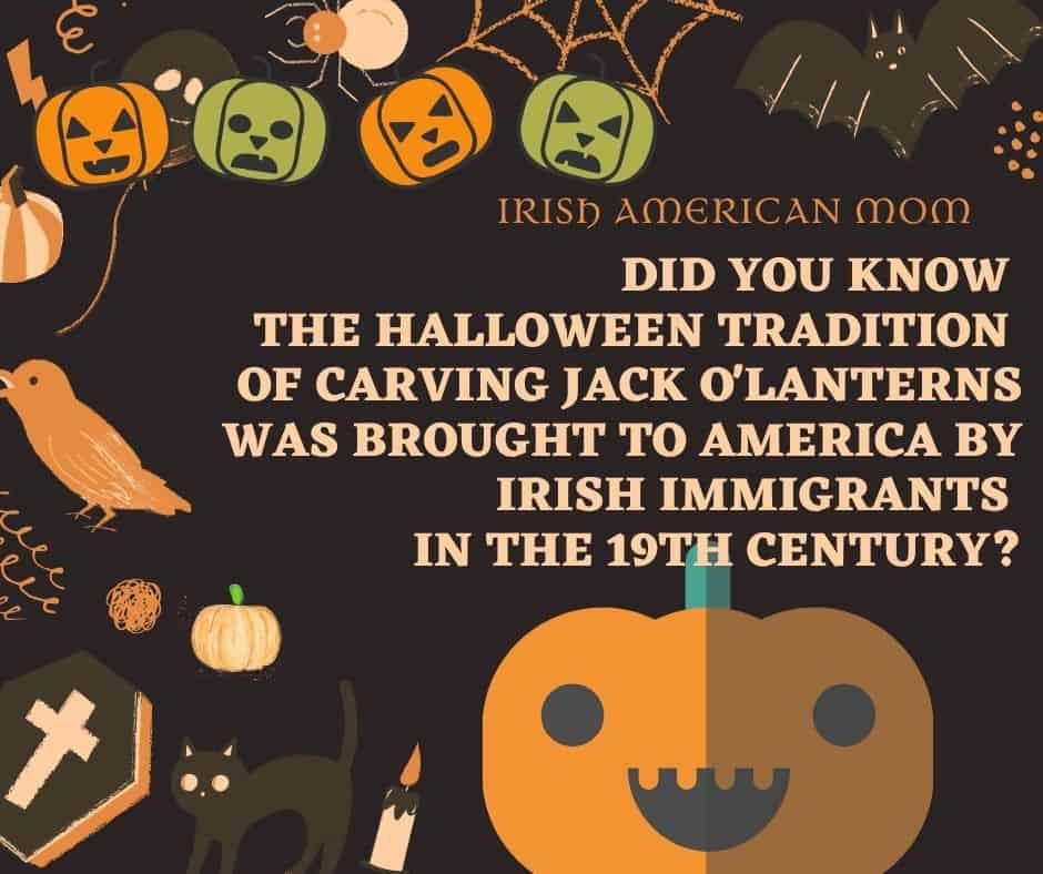 Irish Halloween traditions graphic