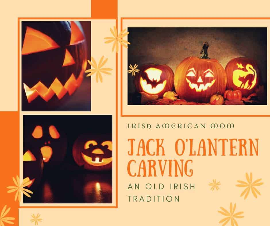 Carving pumpkins is an old Irish tradition