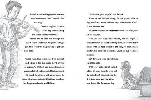 Text and illustration from The Dog Who Lost His Bark by Eoin Colfer