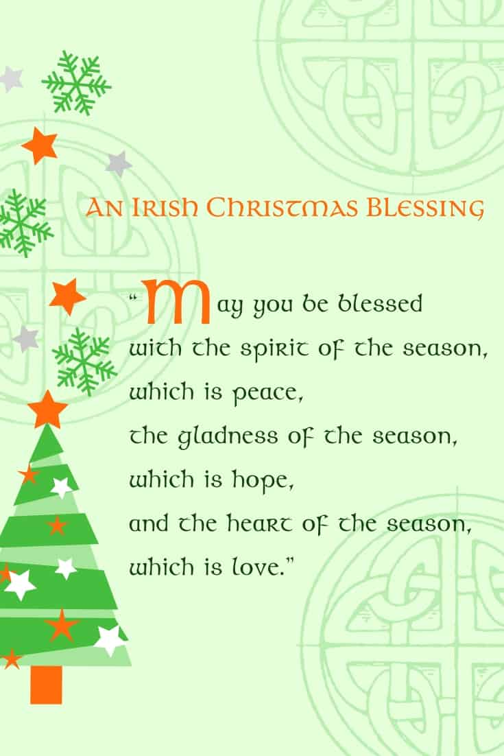 An Irish Christmas Blessing Printable Graphic