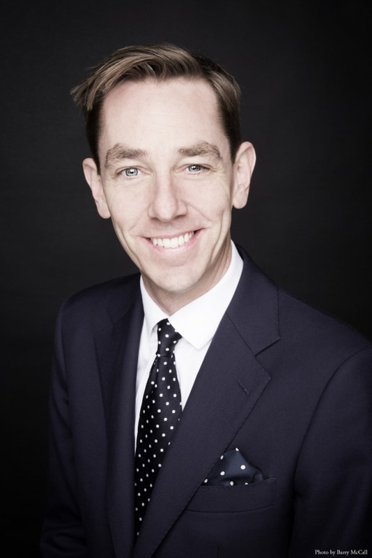 Close up image of Ryan Tubridy an Irish author and TV presenter