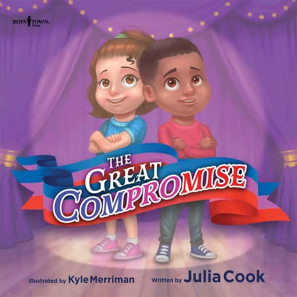 Book Cover for The Great Compromise showing two children on a stage