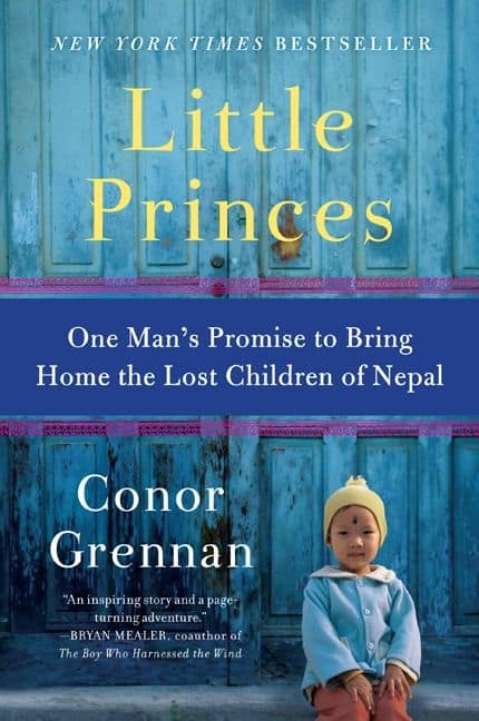 Little Princes Book Cover featuring a young boy from Nepal