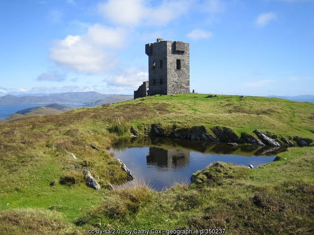A look out tower on a hill on Dursey Island