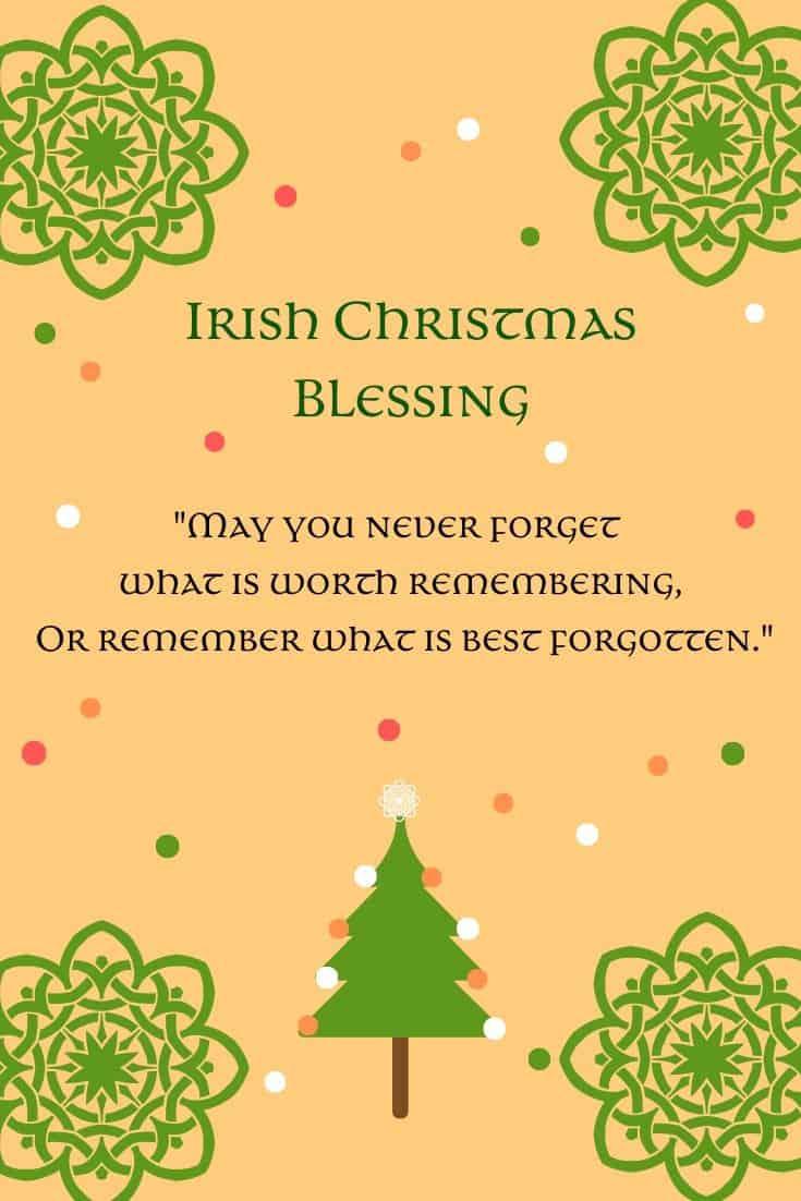 An Irish Christmas Blessing Printable
