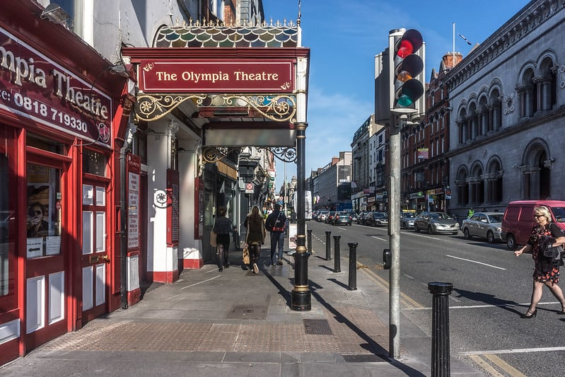 The Victorian portico at the Olympia Theatre in Dublin