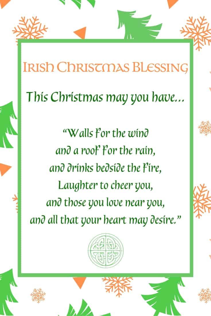 Irish Christmas Blessing Printable with text