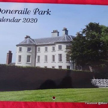 Doneraile Park Calendar 2020 featuring a photo of the stately stone mansion