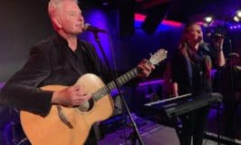 John Lindsay playing a guitar with voalist Grainne McGlone