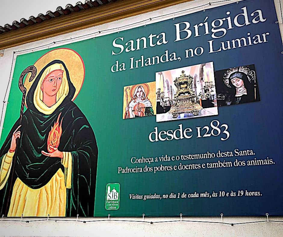 Sign about Santa Brigida in Portugal
