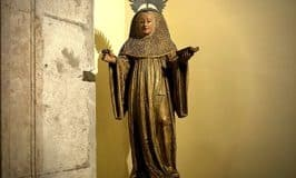 Statue of Saint Brigid of Ireland found in a church in Portugal
