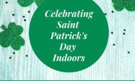 Green shamrock graphic for celebrating Saint Patrick's Day indoors