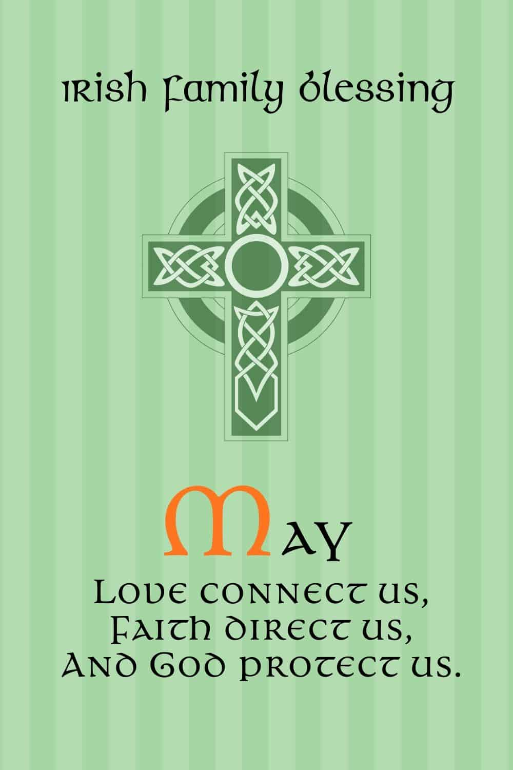 Irish Blessing and Celtic Cross