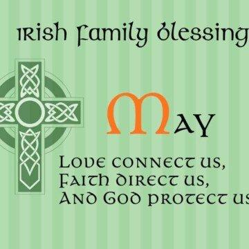 Text beside a Celtic Cross