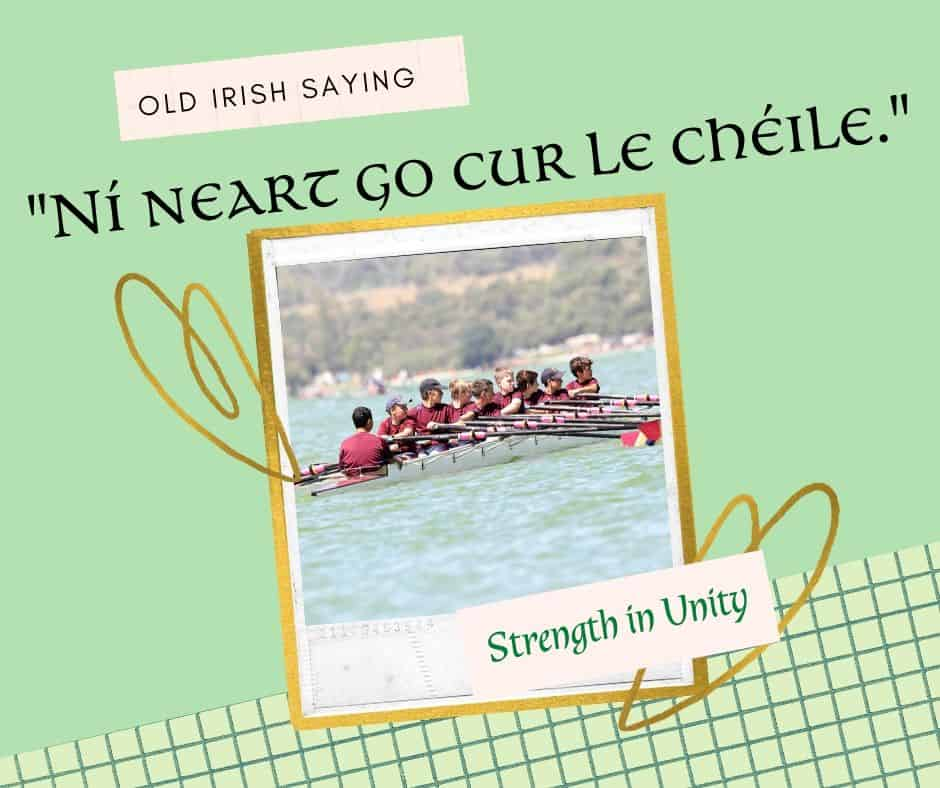 A rowing team in a boat on a text graphic