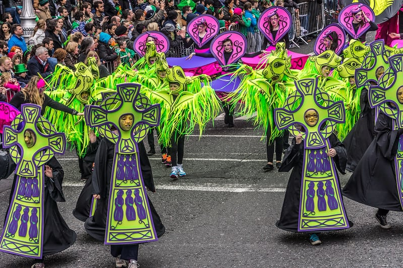 Celtic Cross Costumes at the Dublin Saint Patrick's Day Parade