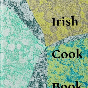 Book cover featuring a colorful design in blues, grays and greens