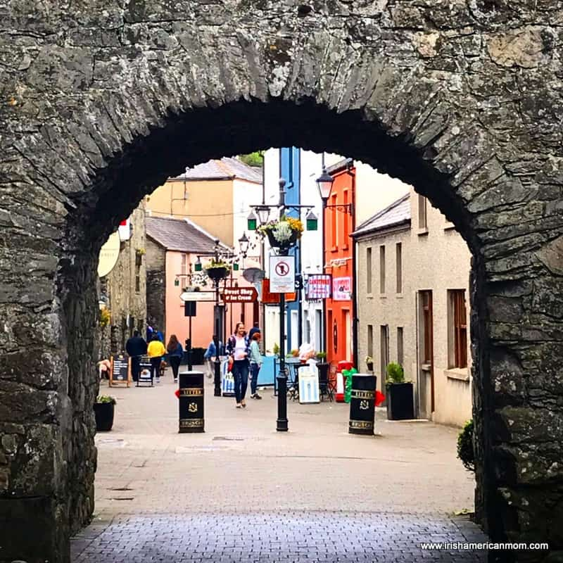 A stone archway entrance to the medieval streets of the town of Carlingford