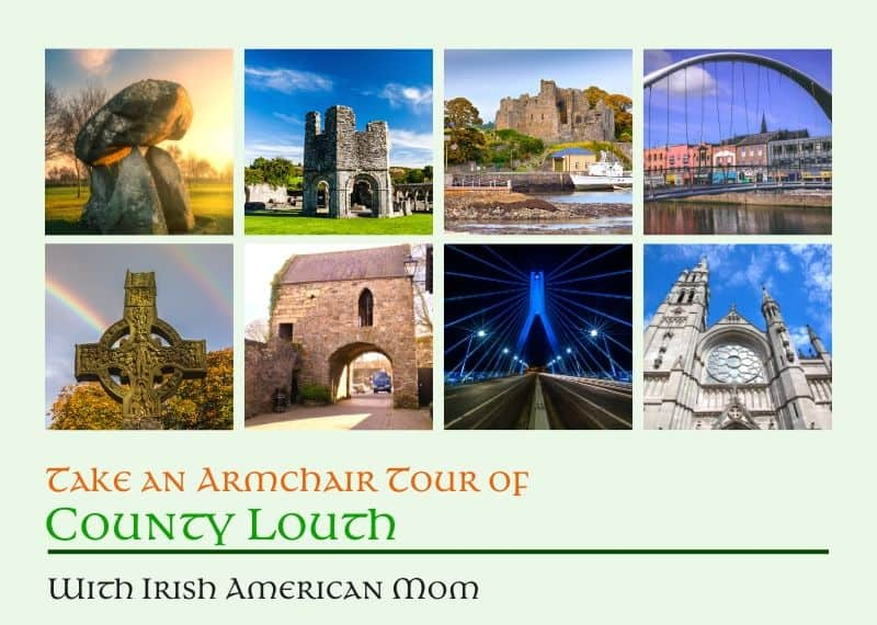 A collage of photos featuring scenes from County Louth in Ireland