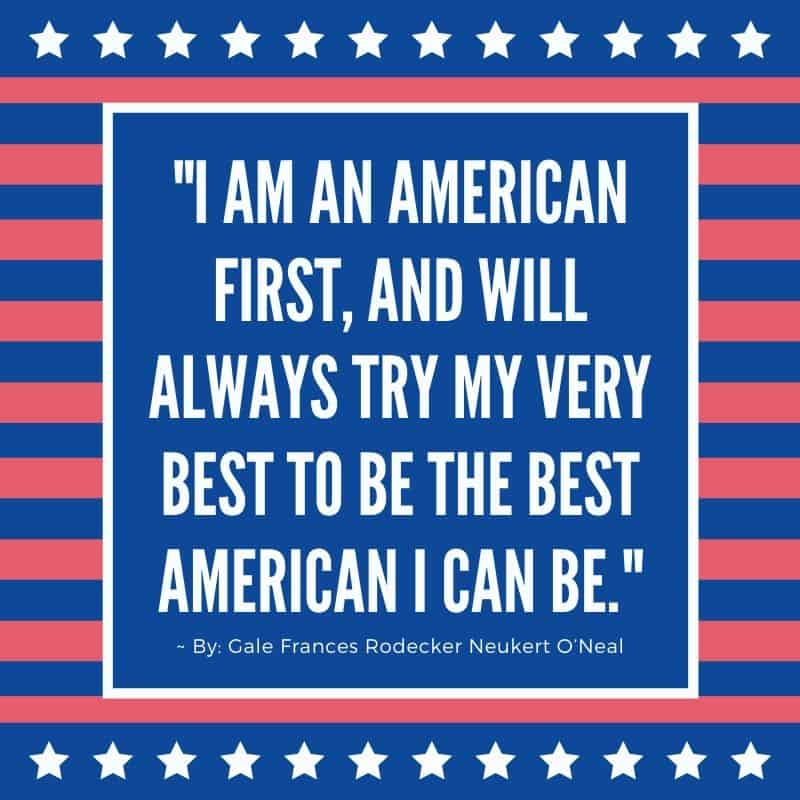 Horizontal red and blue strips with upper and lower horizontal white star stripes for a patriotic graphic