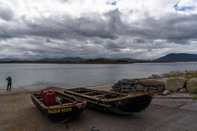 Boats on the slipway by the ocean