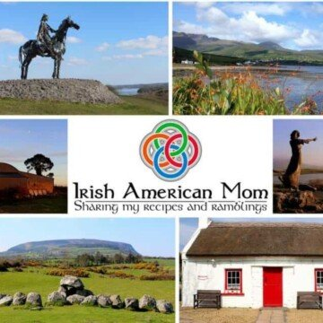 Collage of scenes from Ireland with a central text banner