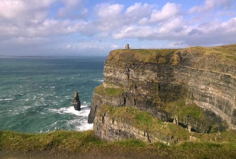 Steep cliffs beside the ocean
