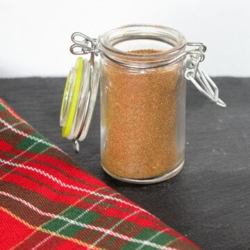 Spice in a small mason jar