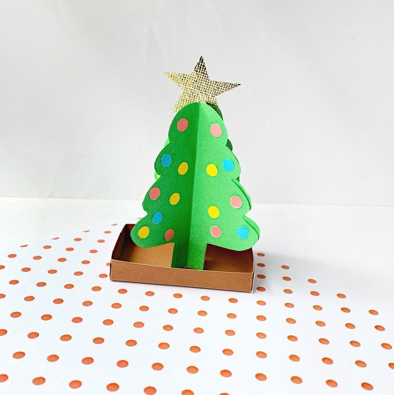 Paper Christmas Tree Craft in three dimensions