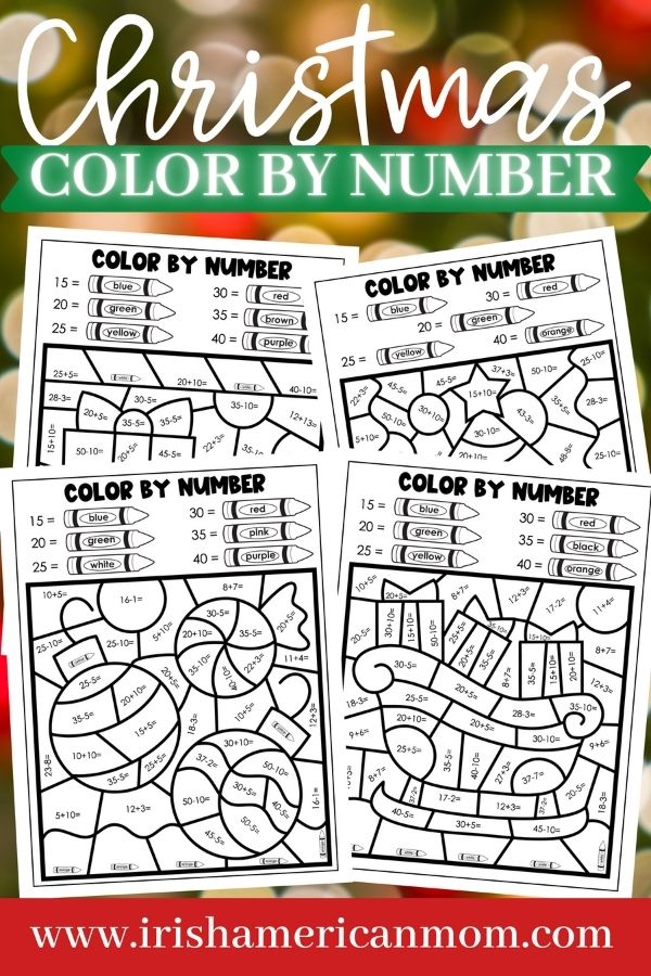 Pages of sketched drawings for coloring on a graphic with text
