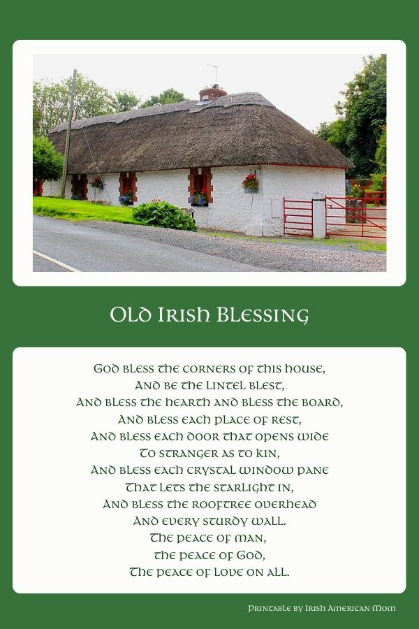 A text graphic with an image of a thatched cottage