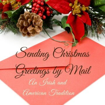 A red envelope beside Christmas pine cone decorations with text overlay
