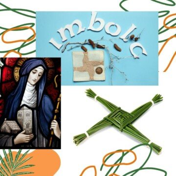 Reed cross and a woman in a nun's habit on a graphic with text
