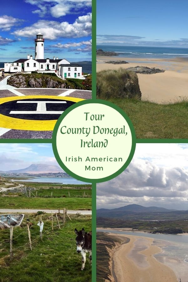 Four image collage featuring landscape images of Ireland