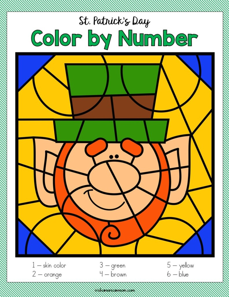 Leprechaun on a coloring page