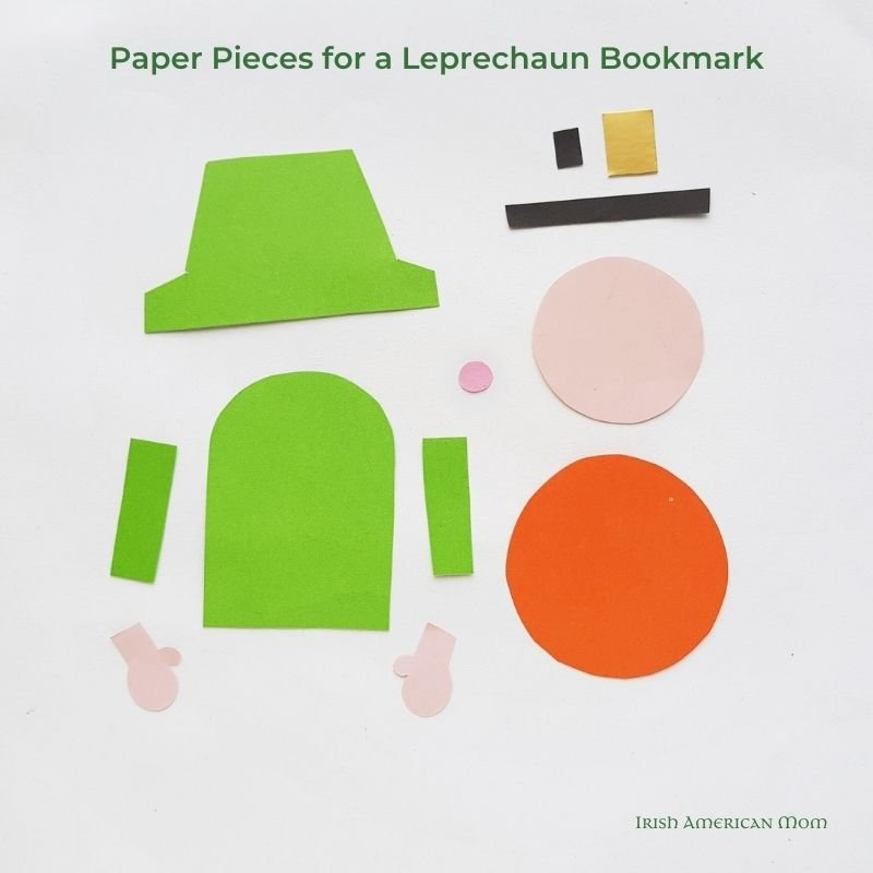 Cut out card paper for making a paper leprechaun