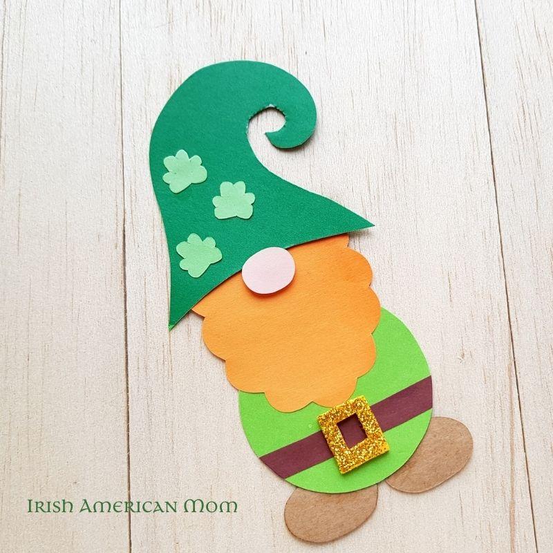 Paper leprechaun craft