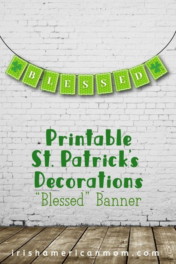 Green banner on a white brick wall above text