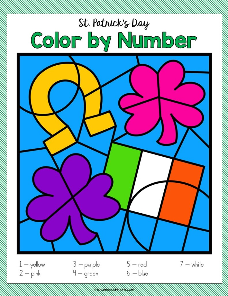 Irish symbols on a coloring activity sheet