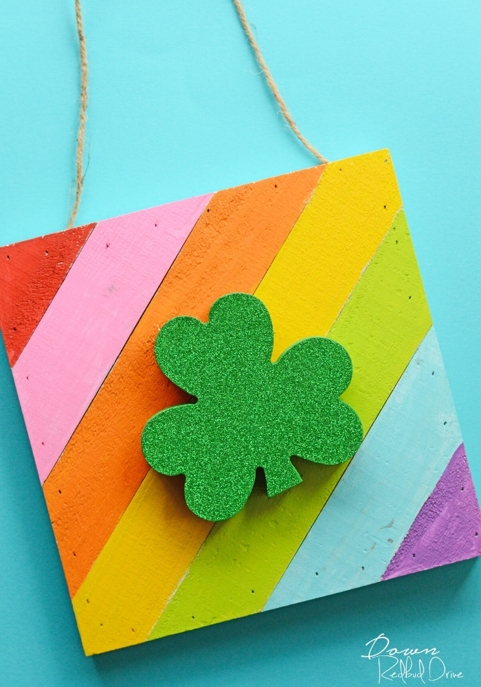 Shamrock on a rainbow board craft