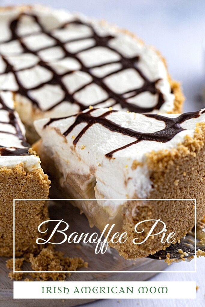 A slice of banoffee pie with text overlay