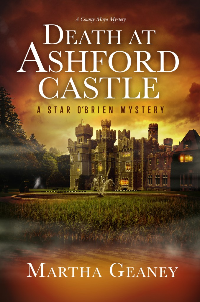 Castle on a book cover with text