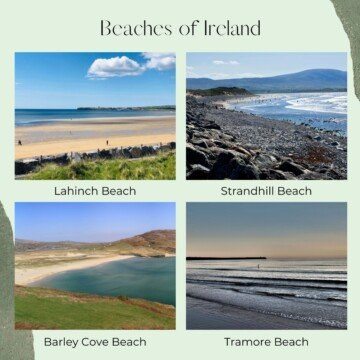 Photo collage of beach scenes with text overlay